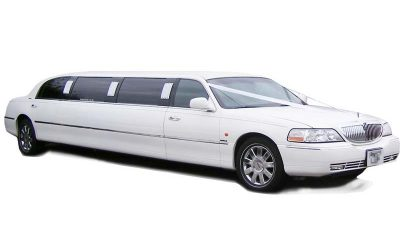 White Lincoln Town Car Stretch Limo